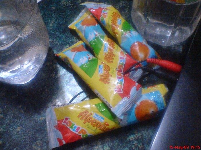 Alpenliebe lollipops...